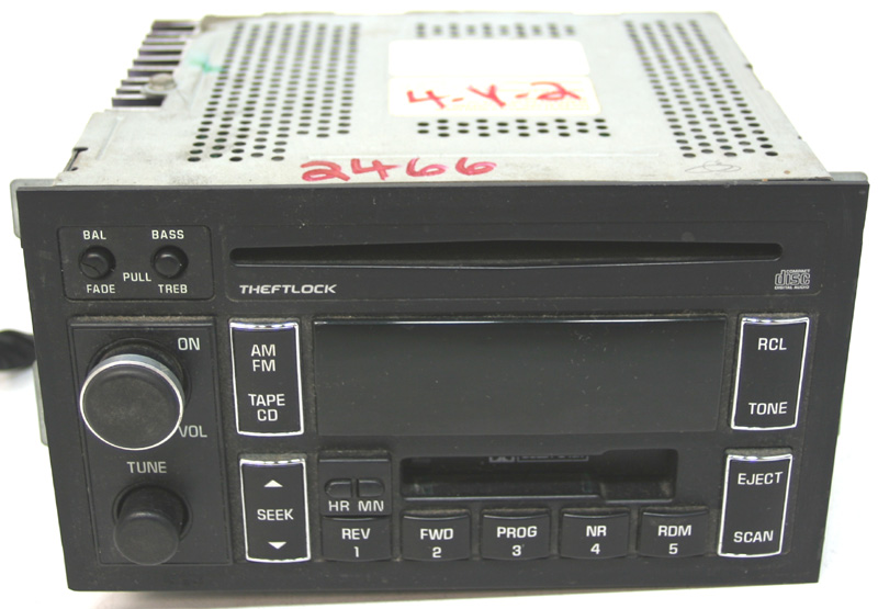 1995 95 Cadillac Fleetwood Factory Stereo Tape CD Player OEM AM/FM Radio
