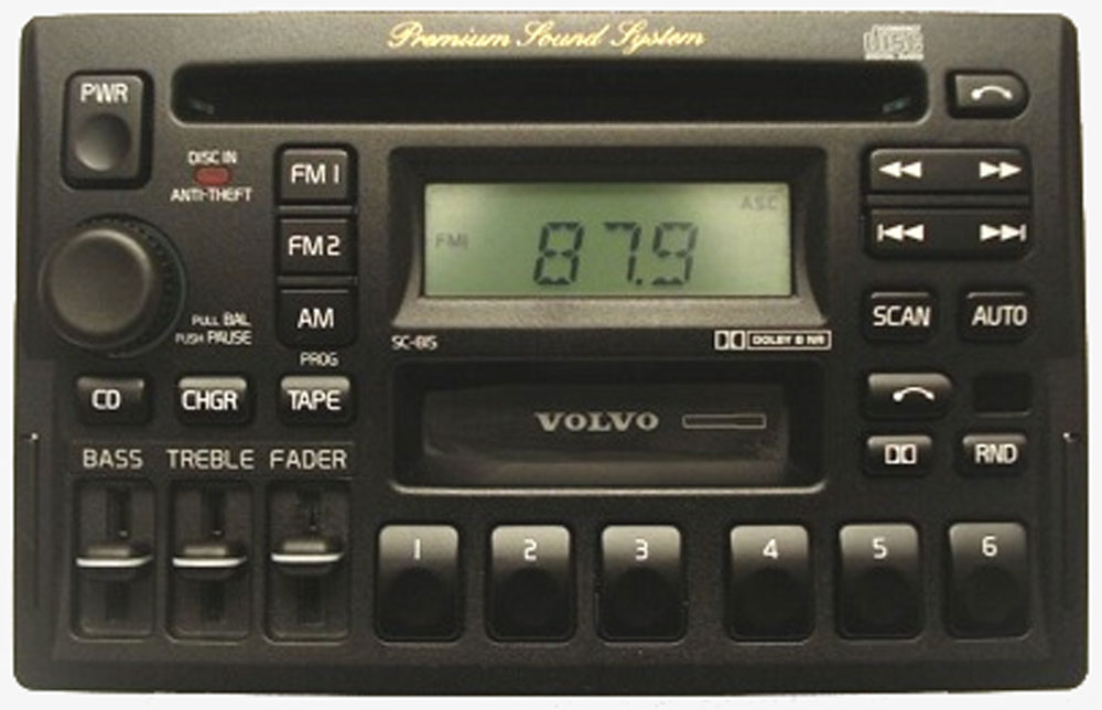 1996 1997 Volvo 850 Factory Stereo Am Fm Tape Cd Player