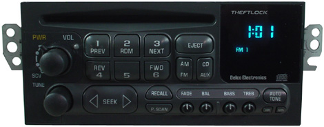 1997 2000 chevrolet malibu factory am mono fm stereo radio. Black Bedroom Furniture Sets. Home Design Ideas