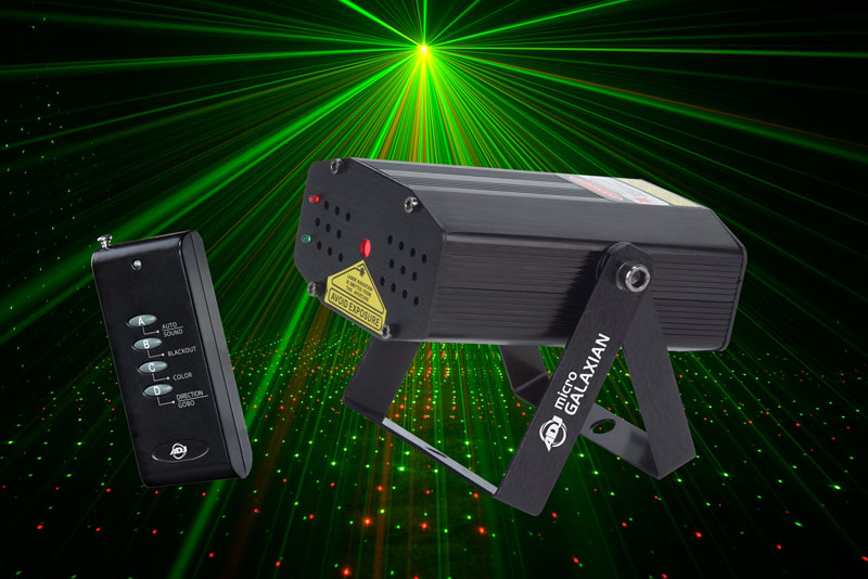 American Dj Micro Galaxian Laser Lighting Red Amp Green