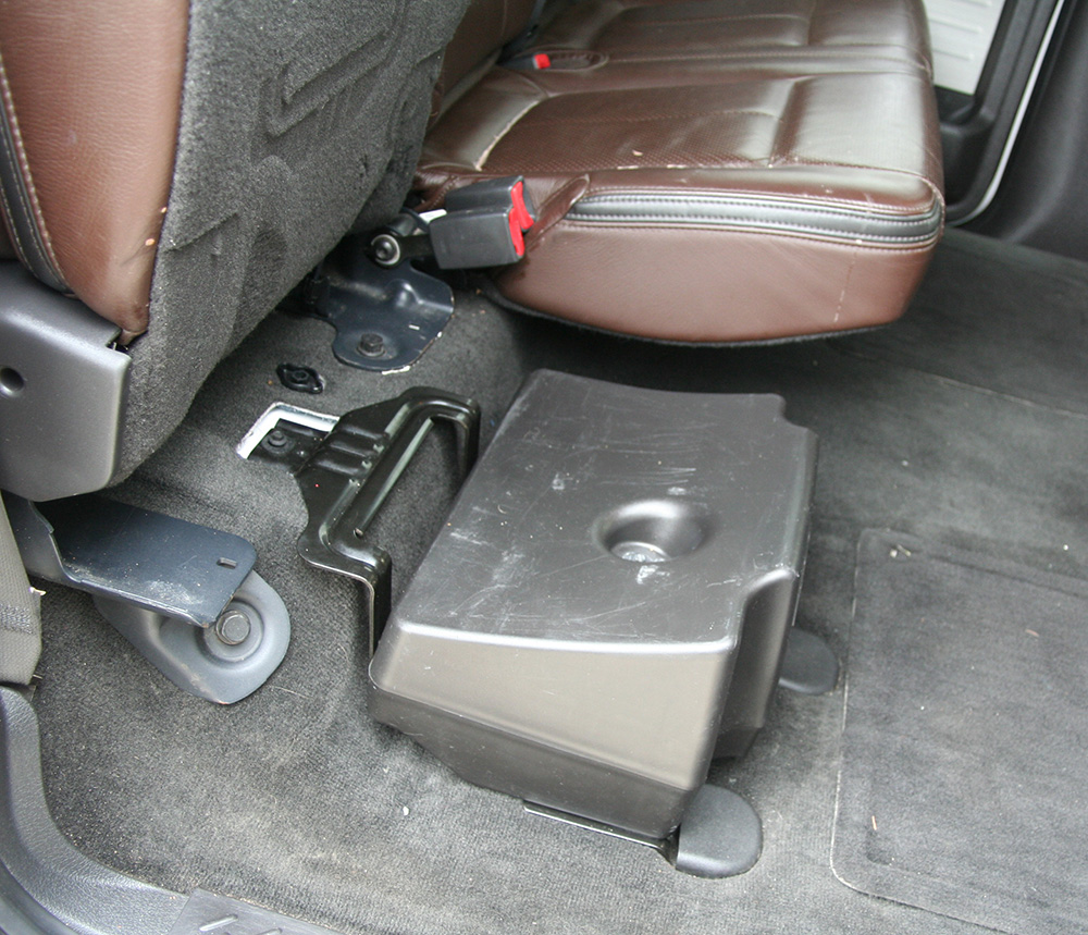 Ford F 150 Crew Cab Truck 2010 Factory Sony 8 Powered 700 Watt Sub Enclosure Under Seat Box FORD F150 SUB on ford subwoofer wiring