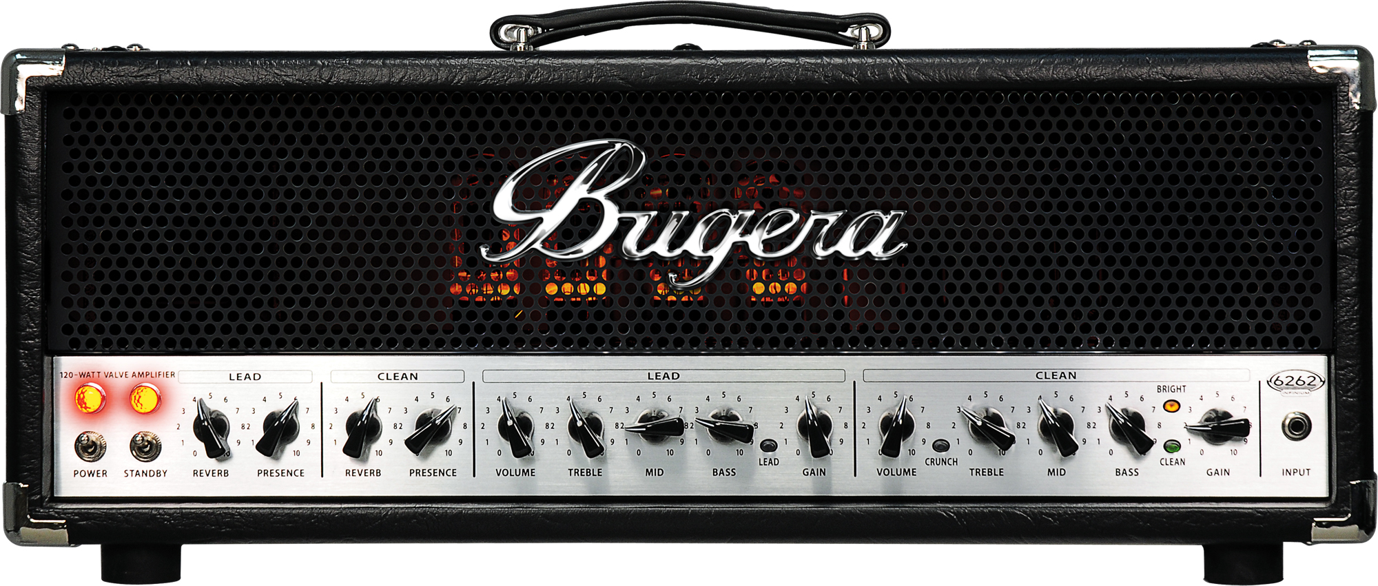 bugera 6262 infinium ultimate rock tone 120 watt 2 channel valve guitar amplifier head with. Black Bedroom Furniture Sets. Home Design Ideas