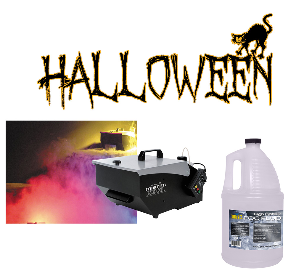 Halloween american dj mister kool low laying fog smoke for Lighting packages for new homes