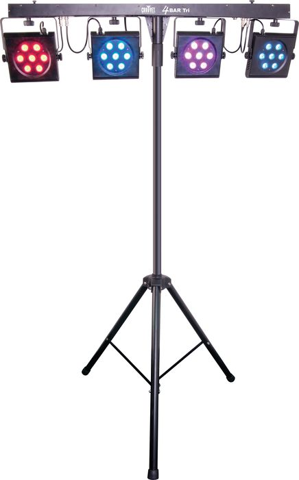 Chauvet dj 2 4bartri portable led stage wash light for Lighting packages for new homes