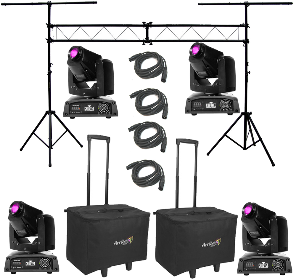 chauvet dj lighting 4 intimidator spot led 150 moving head yoke light with truss system. Black Bedroom Furniture Sets. Home Design Ideas