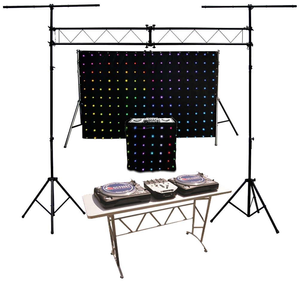 chauvet dj motionset led motion drape fa ade light package w truss table ebay. Black Bedroom Furniture Sets. Home Design Ideas