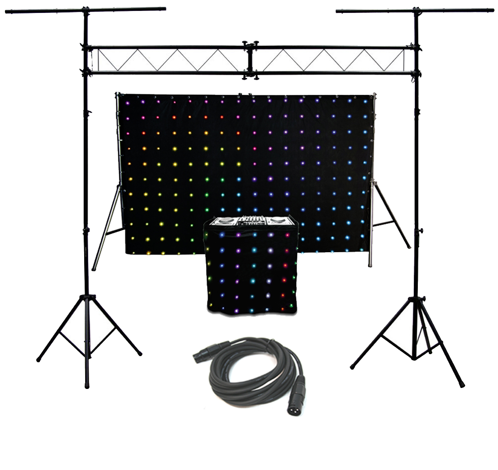 chauvet dj motionset led motion drape fa ade backdrop lighting package with truss. Black Bedroom Furniture Sets. Home Design Ideas