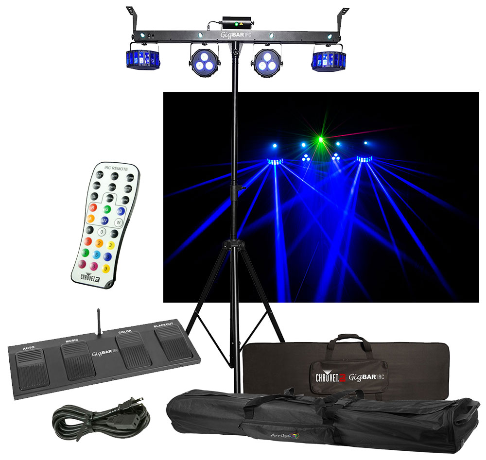 chauvet dj lighting gigbar irc derby laser par strobe effect light remote bag chauvet. Black Bedroom Furniture Sets. Home Design Ideas
