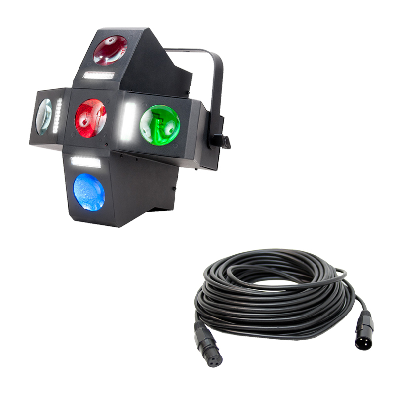 American DJ Monster Fun Moonflower Strobe Fixture Package With 50 39 DMX Ca