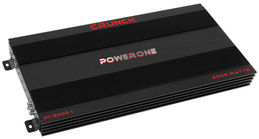 crunch p1 2000 1 power one car stereo mono 2000w subwoofer. Black Bedroom Furniture Sets. Home Design Ideas