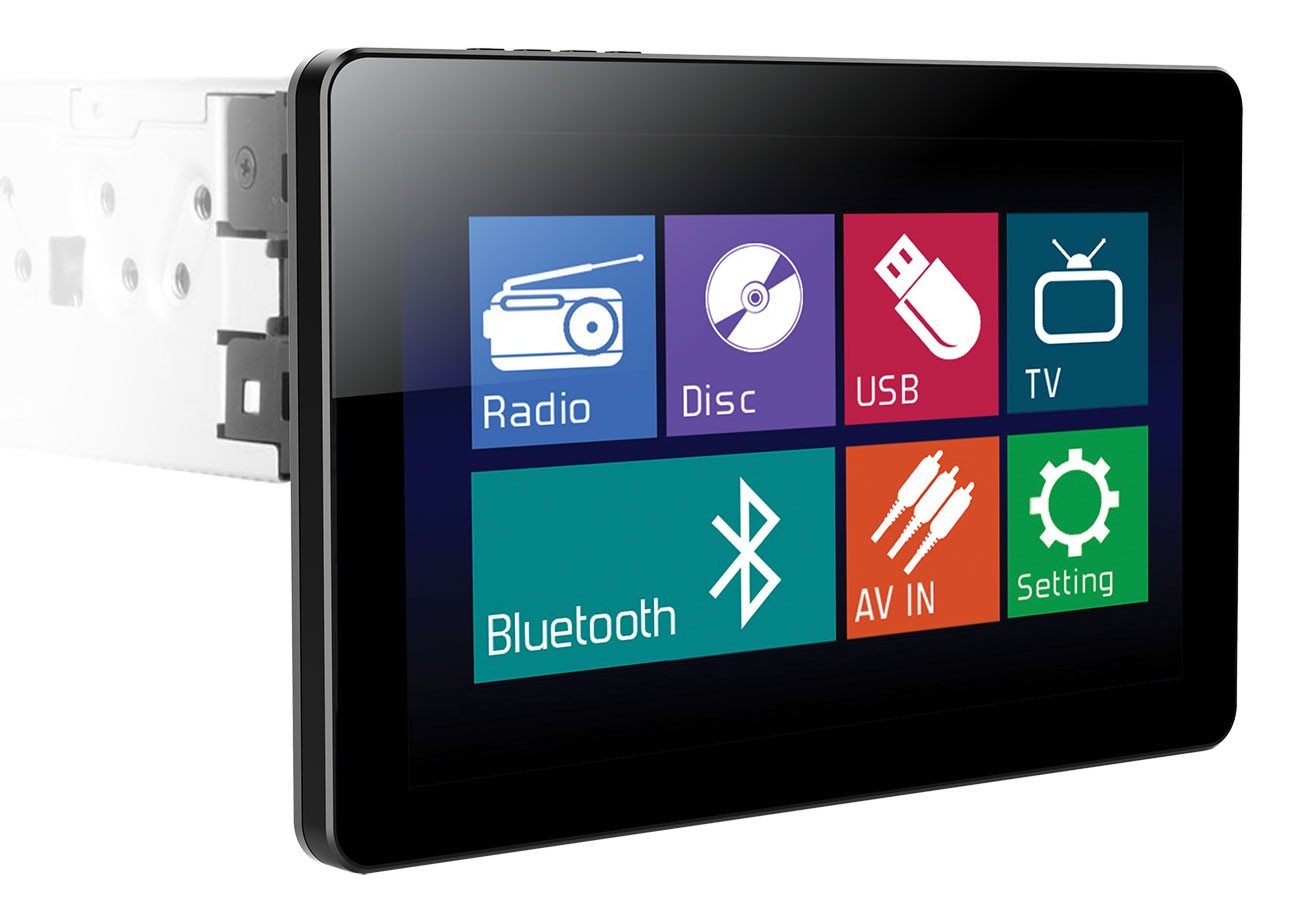"Power Acoustik PD-103B 1-DIN Source Unit with Detachable 10.3"" LCD Touch Screen"