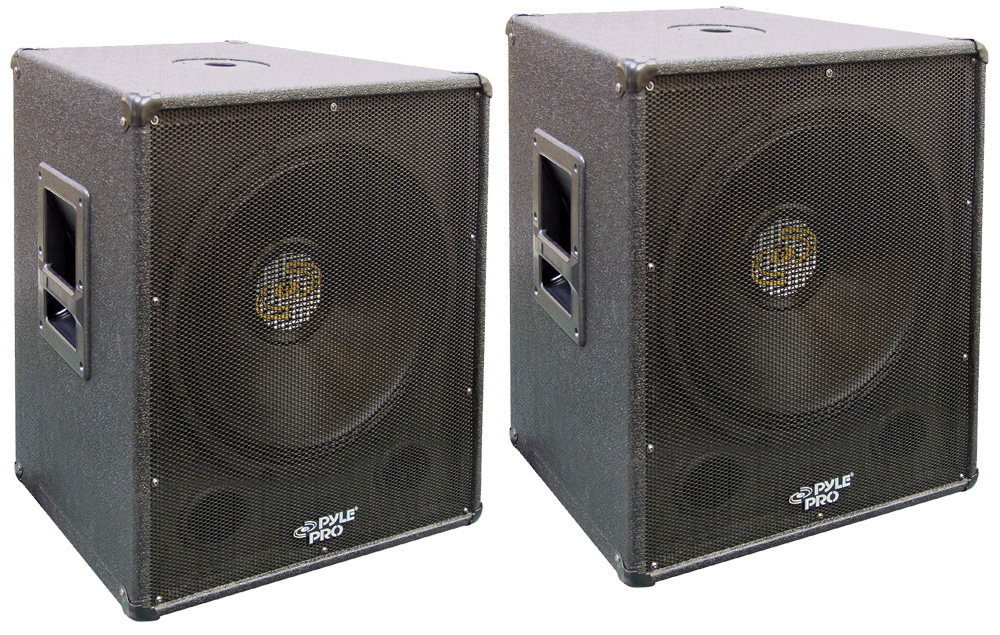 20 Inch Subwoofer: (2) PYLE PRO AUDIO DJ PASW18 PASSIVE 2000 WATTS 18-INCH PA
