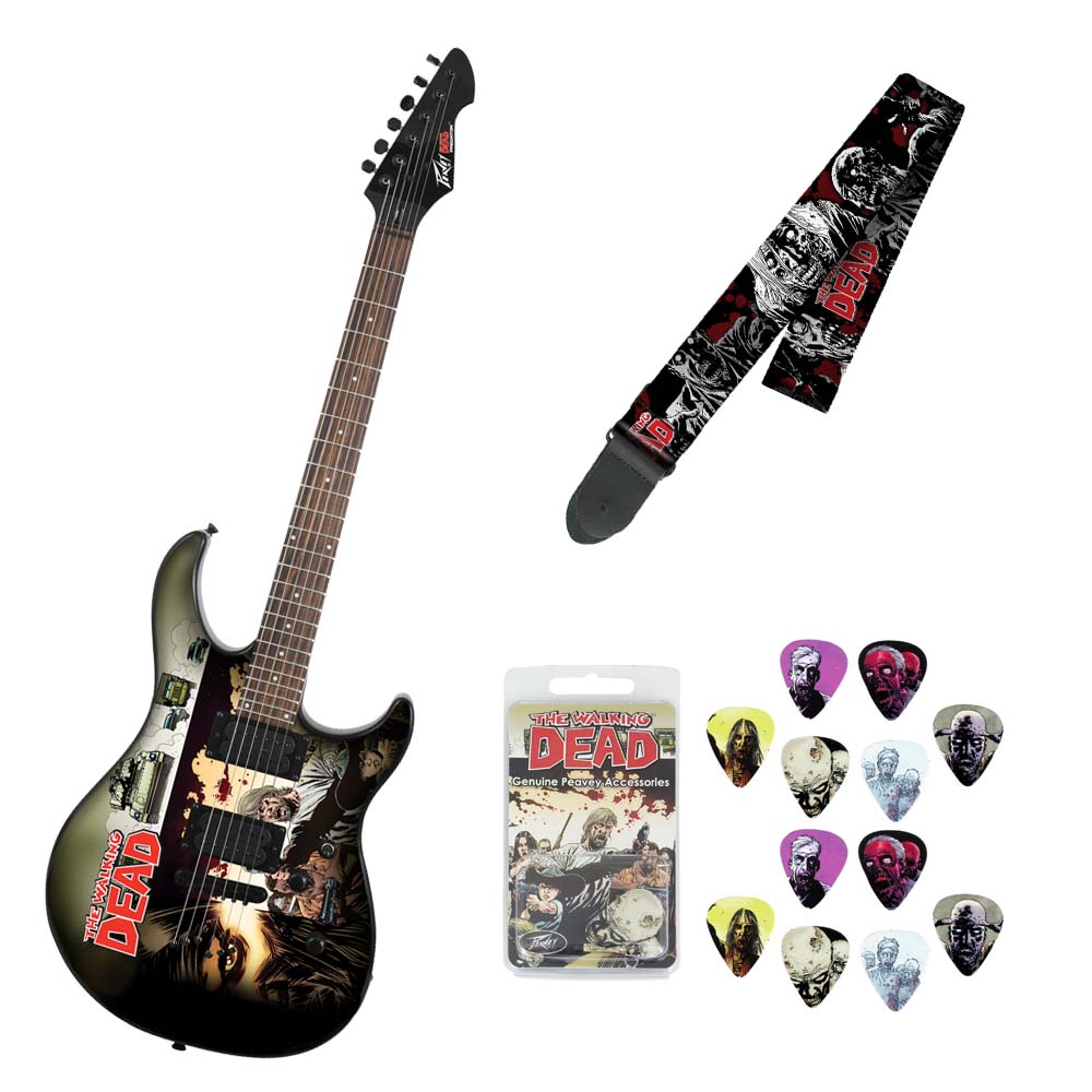 peavey walking dead wrap cover predator electric guitar w walkers strap picks. Black Bedroom Furniture Sets. Home Design Ideas