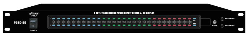 Pyle PDBC608 Outlet Rack Mount Power Supply Center W/ DB Display