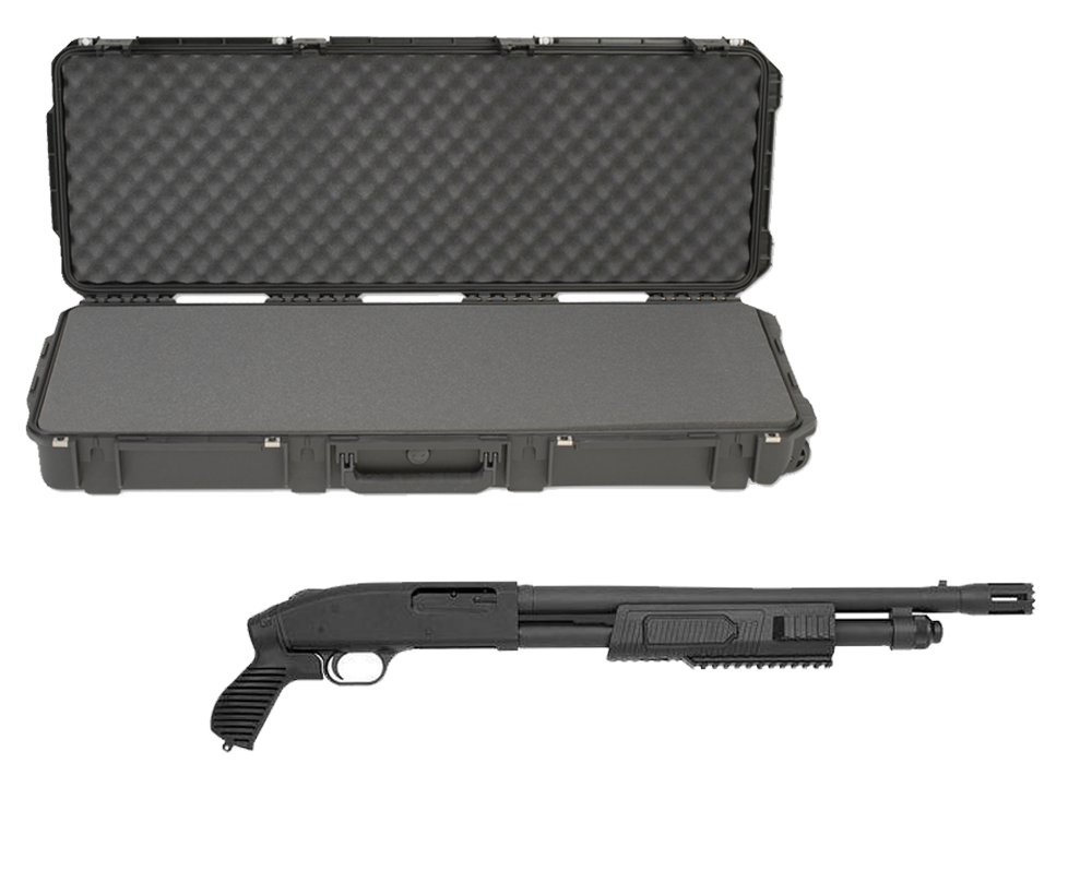 "SKB 3I-4214-5B-L Waterproof Plastic 42.5"" Gun Case for Mossberg Flex 500 Pump Action Shotgun"