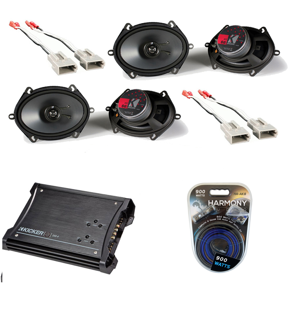 Ford Ranger 93-97 Kicker (2) Ks68 Coaxial Stereo Speakers Zx350.4 ...