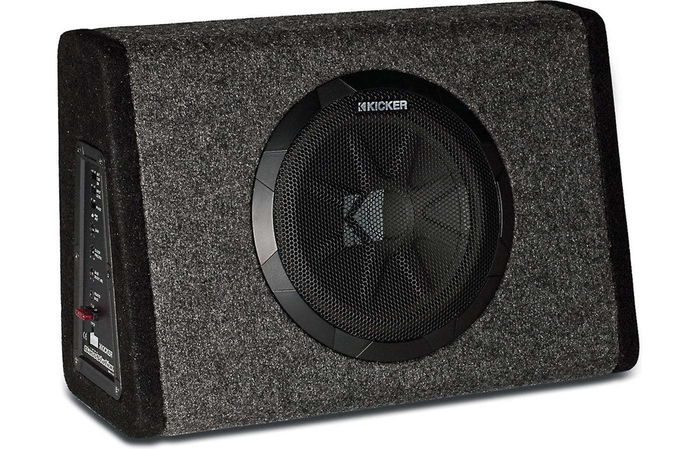 """Kicker 11PT10CA Powered 10"""" Subwoofer Enclosure w/ Remote Bass-Level Controller - Limited Stock"""