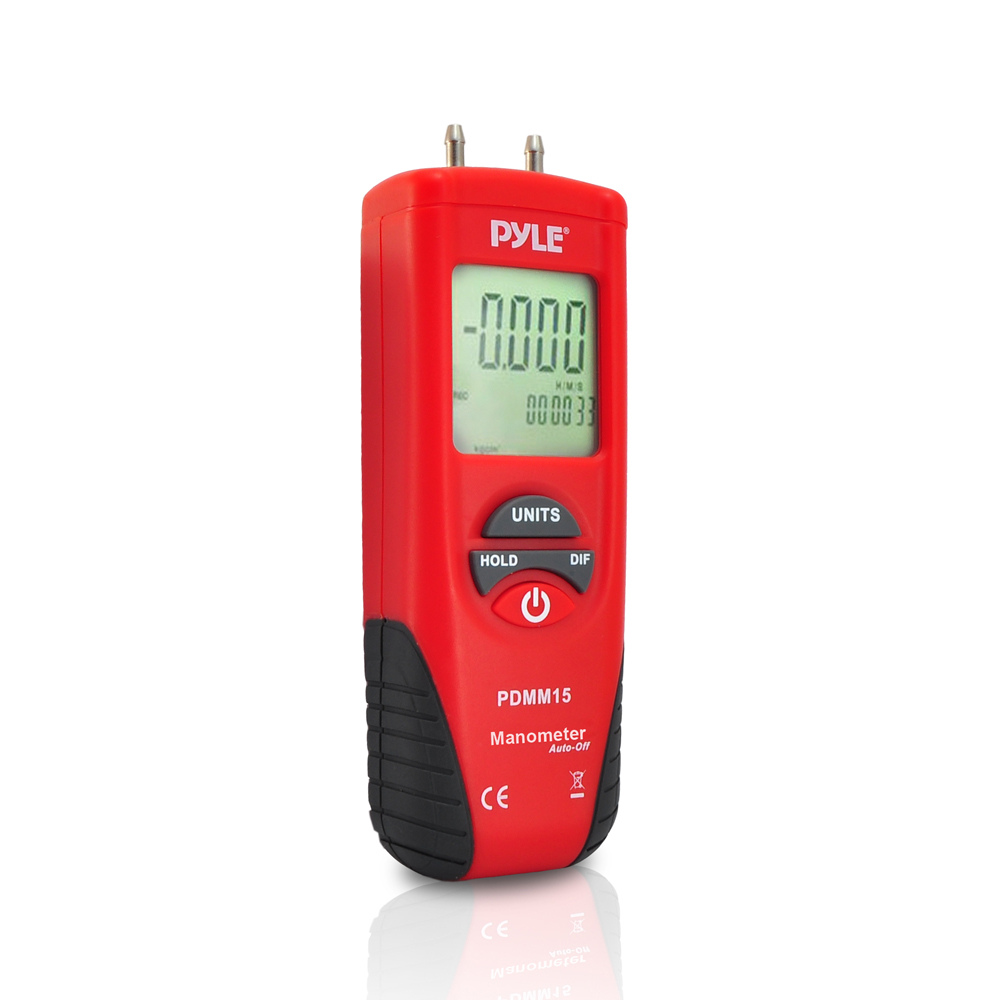 Pyle PDMM15 Digital Manometer For Measuring Pressure with 11 Selectable Units