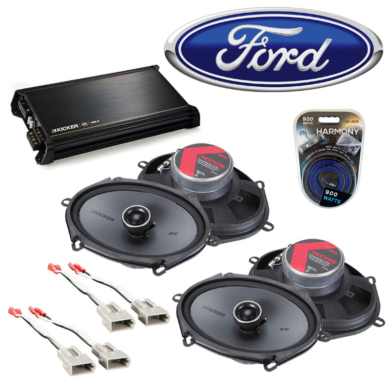 Ford Econoline Full Size Van 97 08 Speaker Upgrade Kicker