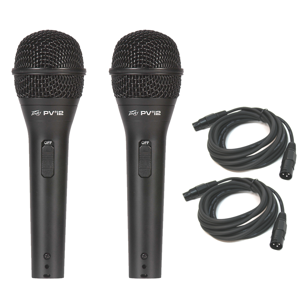 Microphone Cords Packages : Peavey pvi dynamic cardioid microphone package w
