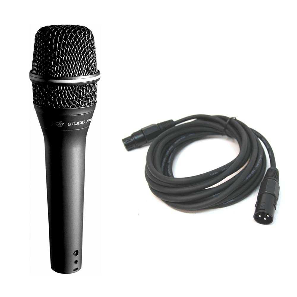 Microphone Cords Packages : Peavey cm handheld cardioid condenser microphone w