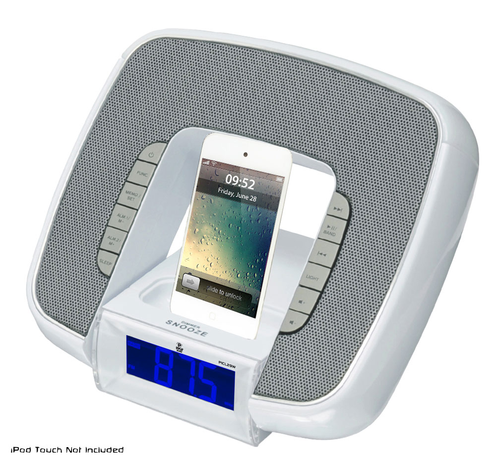 pyle home picl29w iphone ipod white docking station with. Black Bedroom Furniture Sets. Home Design Ideas